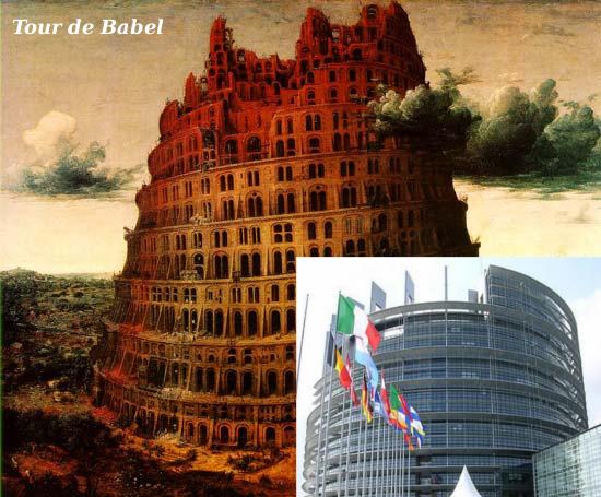 Parlement européen modéle maçonnique  Tourdebabel