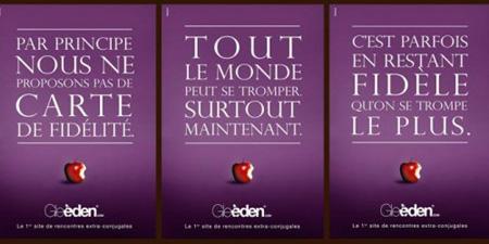 Les affiches des Infidèles retirées Gleeden