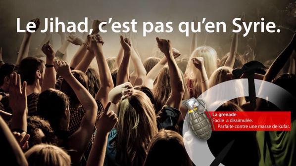 Propagande EI pour encourager le terrorisme en France