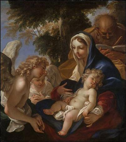 La sainte famille et les anges - Sebastiano Ricci